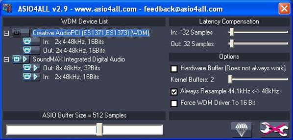 El Panel de ASIO4ALL nuestro gran aliado en Windows