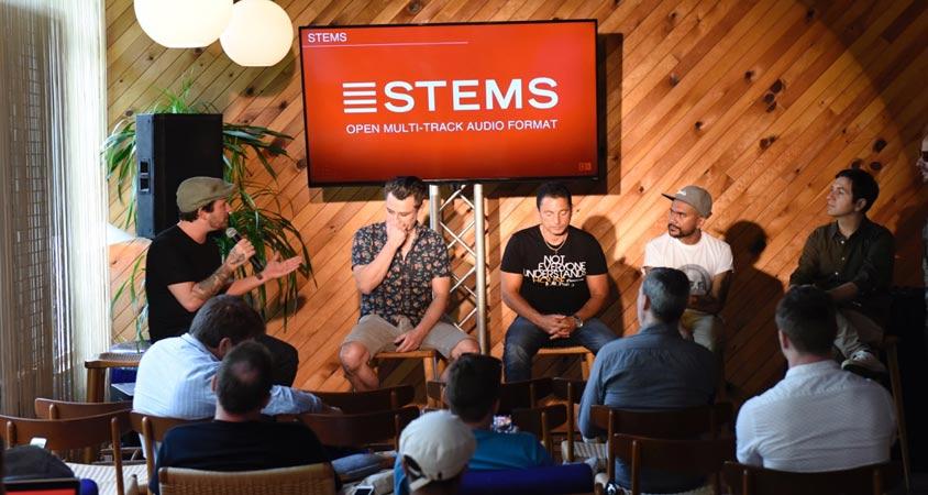 Presentación del formato Stems y sus creadores en el WMC 2015.