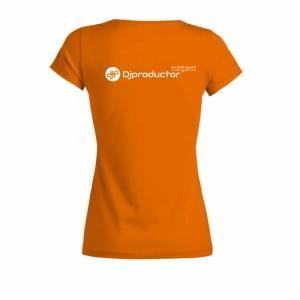 Camiseta-mujer-dj-productor-naranja-espalda