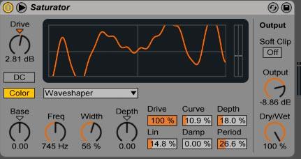 Usando Waveshaper con algunos ajustes básicos