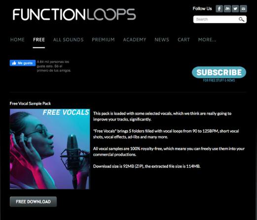 páginas de samples y sonidos gratuitos